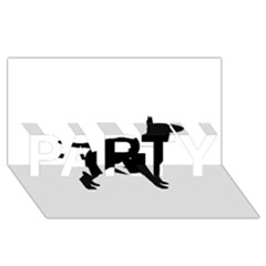 Bull Terrier Silo Black PARTY 3D Greeting Card (8x4)