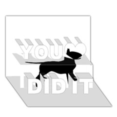 Bull Terrier Silo Black You Did It 3D Greeting Card (7x5)