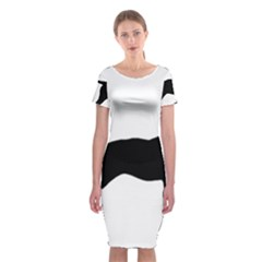 Bull Terrier Silo Black Classic Short Sleeve Midi Dress
