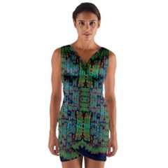 A Bird I Am From Paradise Wrap Front Bodycon Dress
