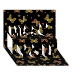 Insects Motif Pattern Miss You 3d Greeting Card (7x5)