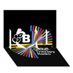 Above & Beyond  Group Therapy Radio I Love You 3D Greeting Card (7x5)