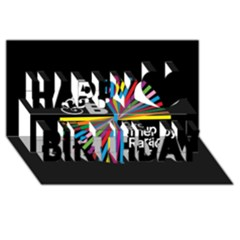 Above & Beyond  Group Therapy Radio Happy Birthday 3D Greeting Card (8x4)