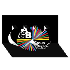 Above & Beyond  Group Therapy Radio Twin Hearts 3D Greeting Card (8x4)