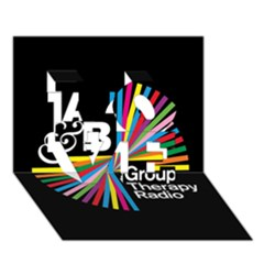 Above & Beyond  Group Therapy Radio LOVE 3D Greeting Card (7x5)