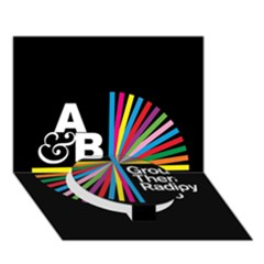 Above & Beyond  Group Therapy Radio Circle Bottom 3D Greeting Card (7x5)