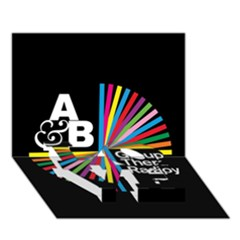 Above & Beyond  Group Therapy Radio LOVE Bottom 3D Greeting Card (7x5)