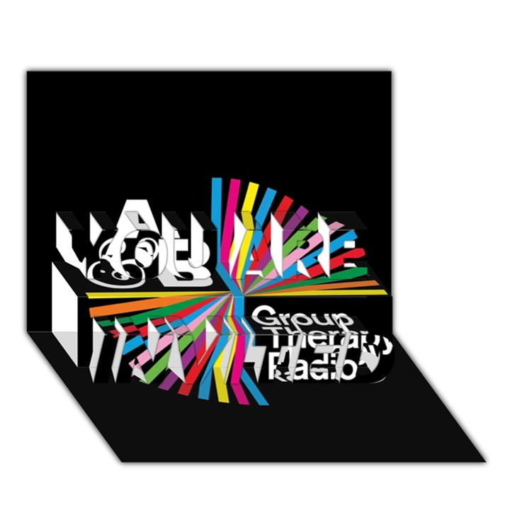 Above & Beyond  Group Therapy Radio YOU ARE INVITED 3D Greeting Card (7x5)