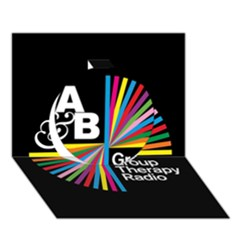 Above & Beyond  Group Therapy Radio Circle 3D Greeting Card (7x5)