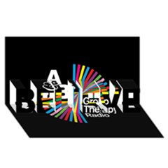 Above & Beyond  Group Therapy Radio BELIEVE 3D Greeting Card (8x4)