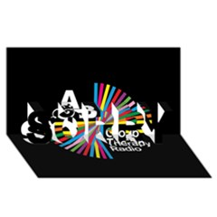 Above & Beyond  Group Therapy Radio SORRY 3D Greeting Card (8x4)