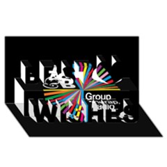 Above & Beyond  Group Therapy Radio Best Wish 3D Greeting Card (8x4)