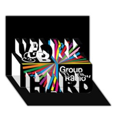 Above & Beyond  Group Therapy Radio WORK HARD 3D Greeting Card (7x5)