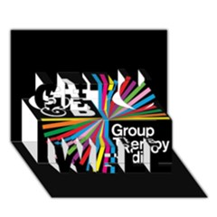 Above & Beyond  Group Therapy Radio Get Well 3D Greeting Card (7x5)