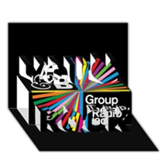 Above & Beyond  Group Therapy Radio You Rock 3D Greeting Card (7x5)
