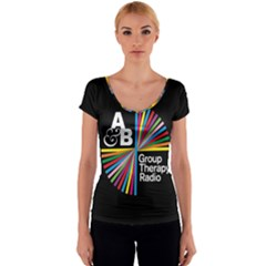 Above & Beyond  Group Therapy Radio Women s V-Neck Cap Sleeve Top