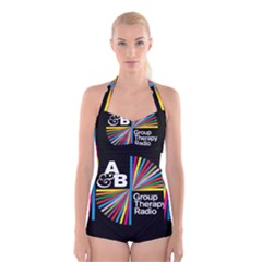Above & Beyond  Group Therapy Radio Boyleg Halter Swimsuit