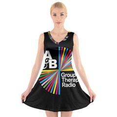 Above & Beyond  Group Therapy Radio V-Neck Sleeveless Skater Dress