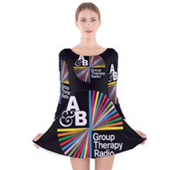 Above & Beyond  Group Therapy Radio Long Sleeve Velvet Skater Dress