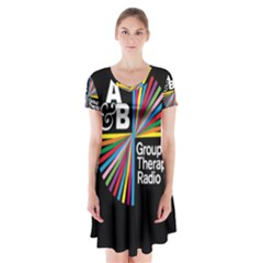 Above & Beyond  Group Therapy Radio Short Sleeve V-neck Flare Dress