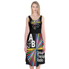 Above & Beyond  Group Therapy Radio Midi Sleeveless Dress