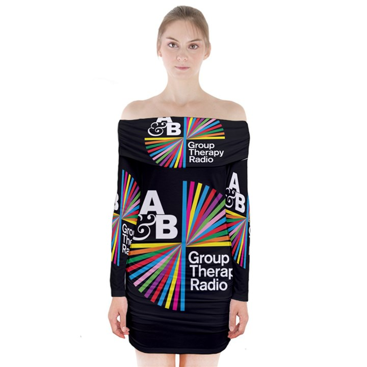 Above & Beyond  Group Therapy Radio Long Sleeve Off Shoulder Dress