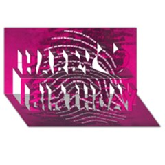 Above & Beyond Sticky Fingers Happy Birthday 3D Greeting Card (8x4)