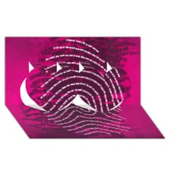 Above & Beyond Sticky Fingers Twin Hearts 3D Greeting Card (8x4)