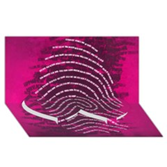 Above & Beyond Sticky Fingers Twin Heart Bottom 3D Greeting Card (8x4)