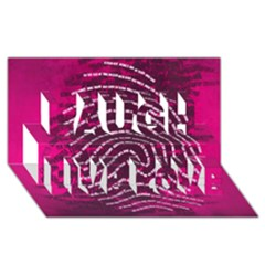 Above & Beyond Sticky Fingers Laugh Live Love 3D Greeting Card (8x4)