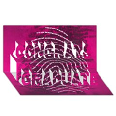Above & Beyond Sticky Fingers Congrats Graduate 3D Greeting Card (8x4)