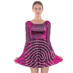 Above & Beyond Sticky Fingers Long Sleeve Skater Dress