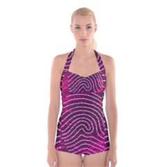 Above & Beyond Sticky Fingers Boyleg Halter Swimsuit
