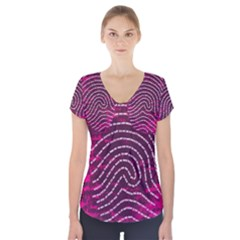 Above & Beyond Sticky Fingers Short Sleeve Front Detail Top