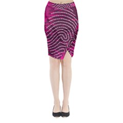 Above & Beyond Sticky Fingers Midi Wrap Pencil Skirt