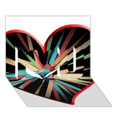 Above & Beyond I Love You 3d Greeting Card (7x5)