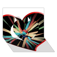 Above & Beyond Heart 3D Greeting Card (7x5)