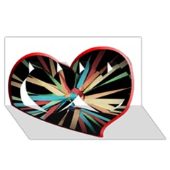 Above & Beyond Twin Hearts 3D Greeting Card (8x4)