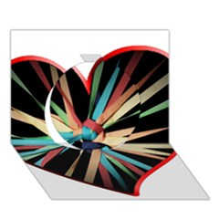 Above & Beyond Circle 3D Greeting Card (7x5)
