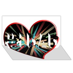 Above & Beyond #1 Dad 3d Greeting Card (8x4)