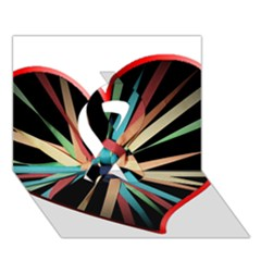 Above & Beyond Ribbon 3D Greeting Card (7x5)
