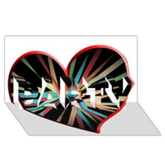 Above & Beyond PARTY 3D Greeting Card (8x4)