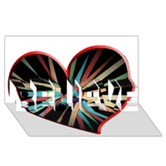 Above & Beyond Believe 3d Greeting Card (8x4)