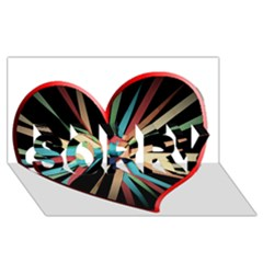 Above & Beyond SORRY 3D Greeting Card (8x4)