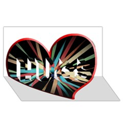 Above & Beyond HUGS 3D Greeting Card (8x4)