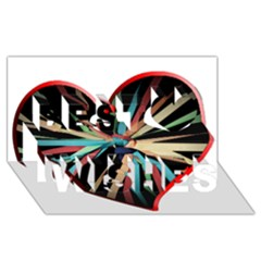 Above & Beyond Best Wish 3D Greeting Card (8x4)
