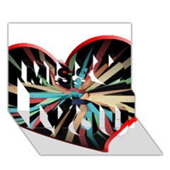 Above & Beyond Miss You 3D Greeting Card (7x5)
