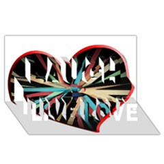 Above & Beyond Laugh Live Love 3D Greeting Card (8x4)