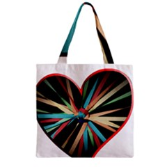 Above & Beyond Zipper Grocery Tote Bag