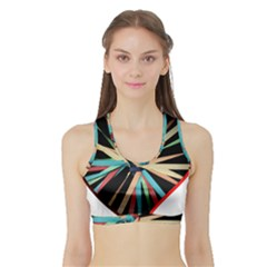 Above & Beyond Sports Bra with Border